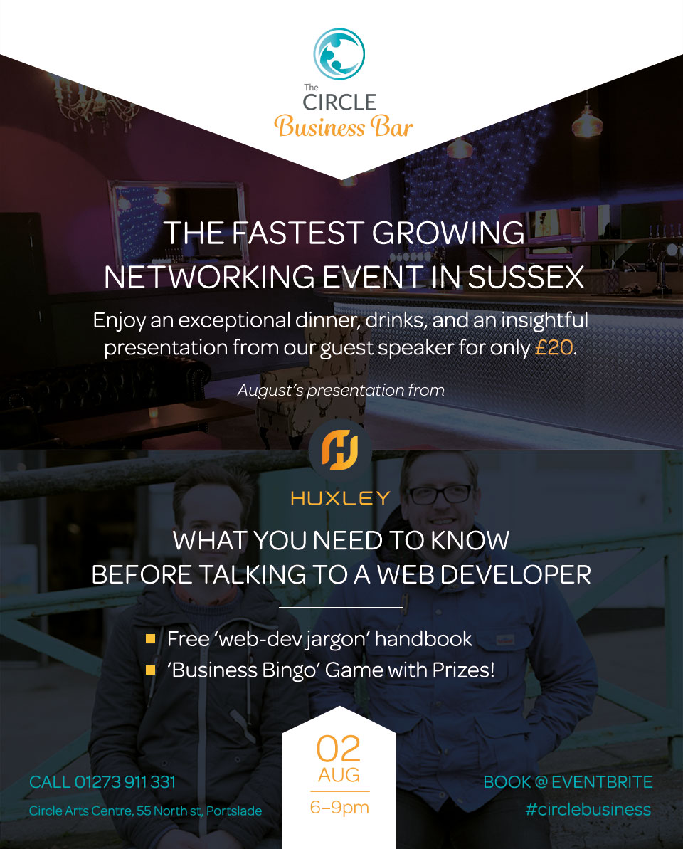 The Circle Business Bar August 2017 Flyer