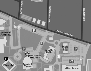 Lipscomb parking map