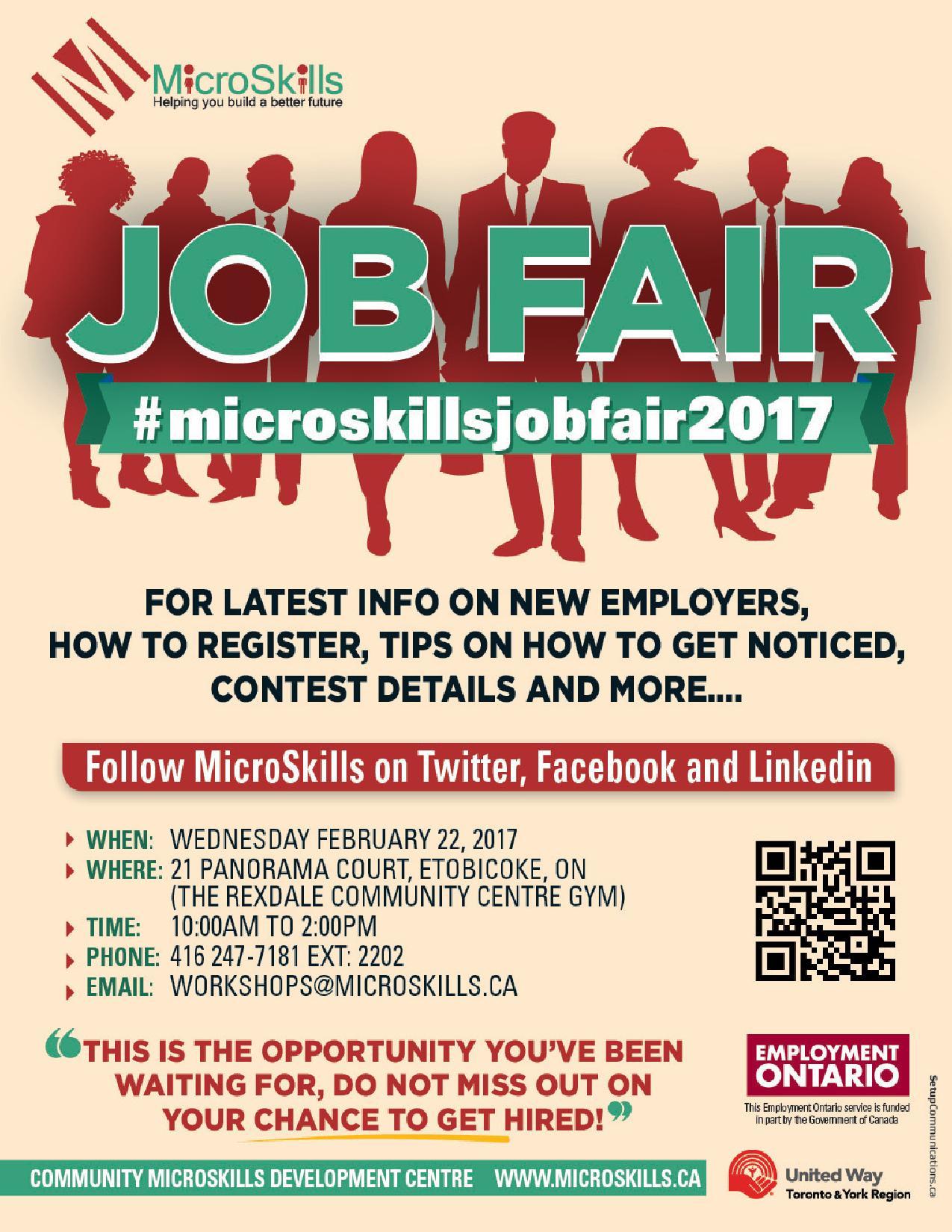 MicroSkills & Employment Ontario Job Fair Flyer