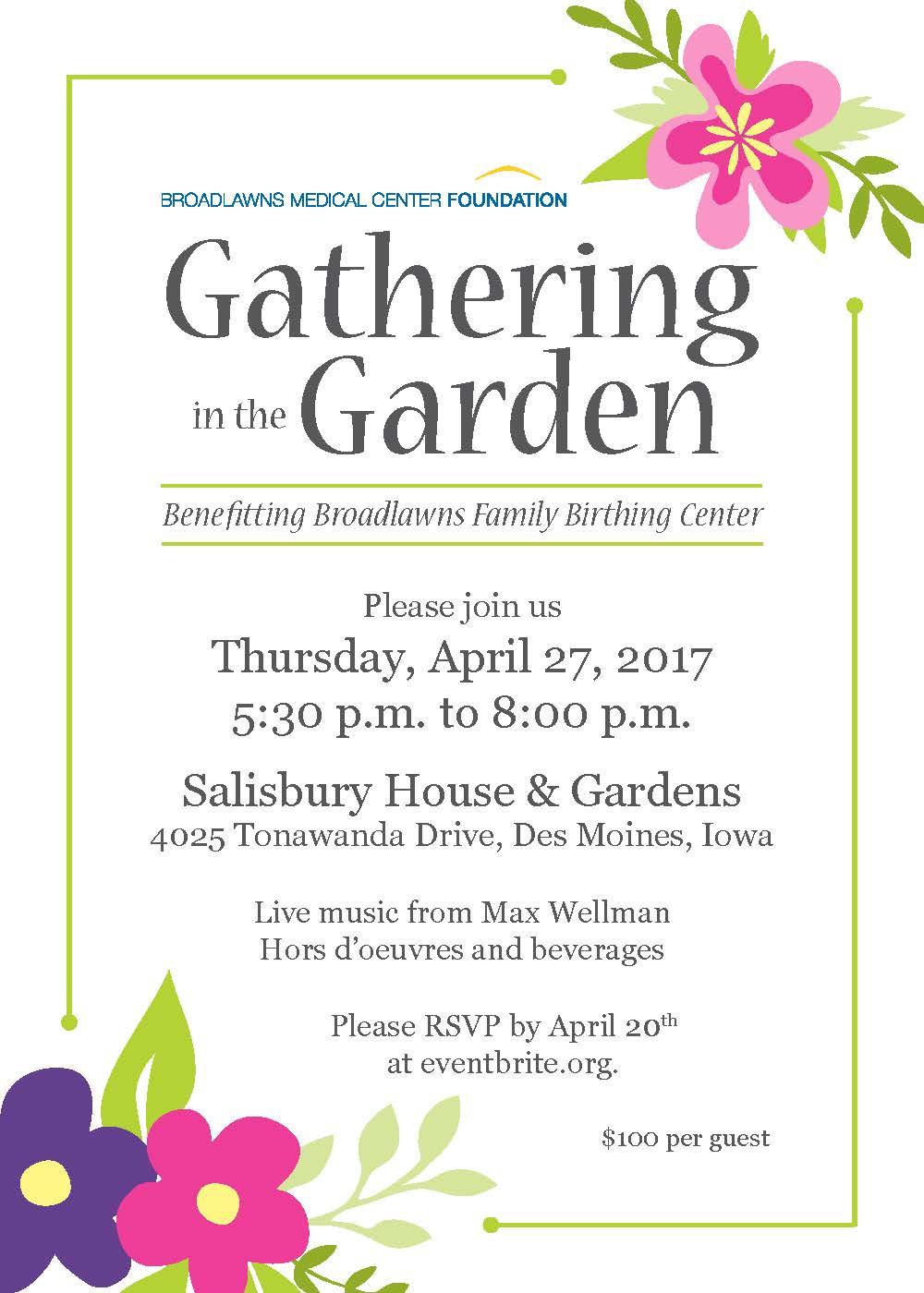 Gathering in the Garden Invitation