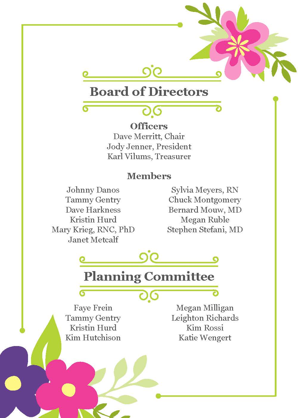Gathering Board and Committee