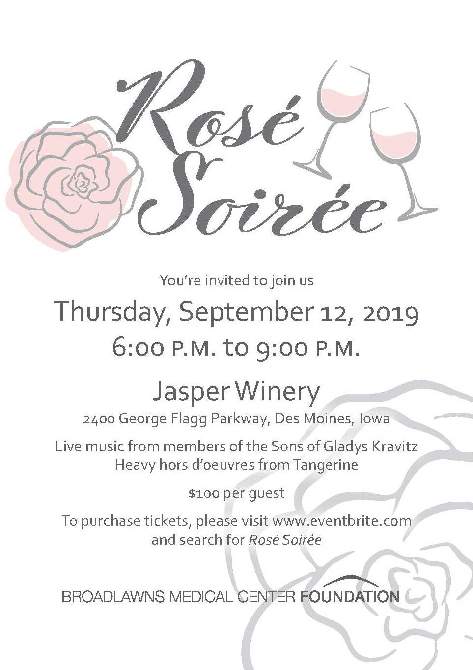 Rose Soiree invitation