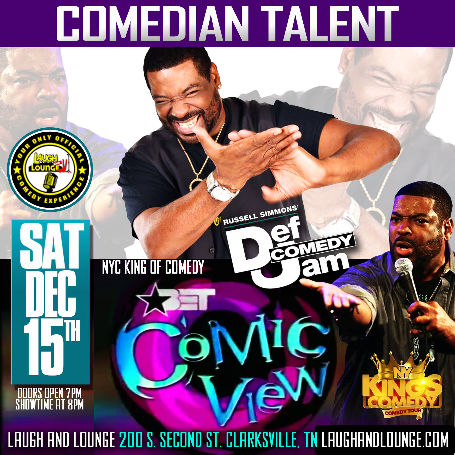 LAUGH AND LOUNGE COMEDIAN TALENT