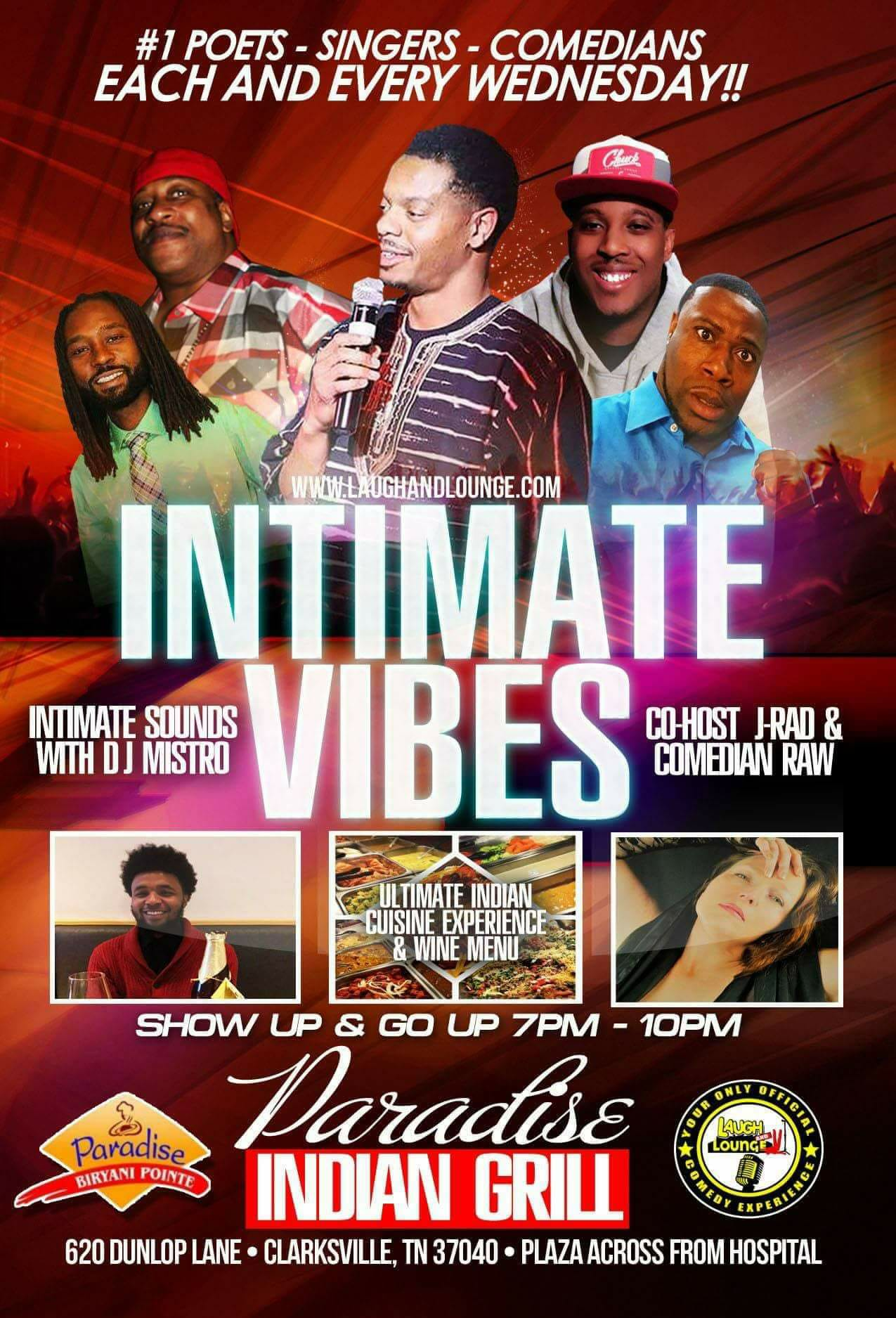 LAUGH AND LOUNGE INTIMATE VIBES