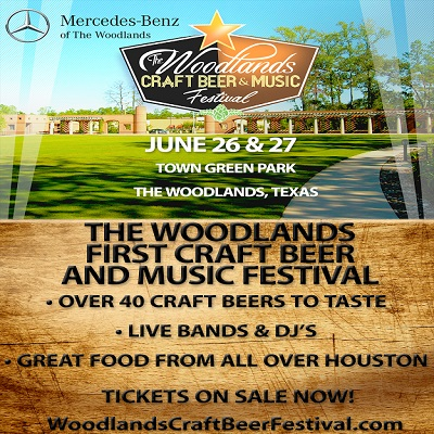 Woodlands craft beer music festival presented by for Mercedes benz of the woodlands