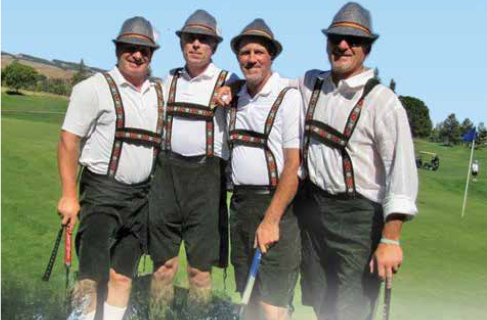 golfers in funny costume
