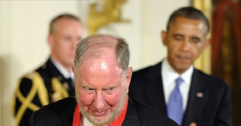 Robert Putnam and President Obama, May 2015