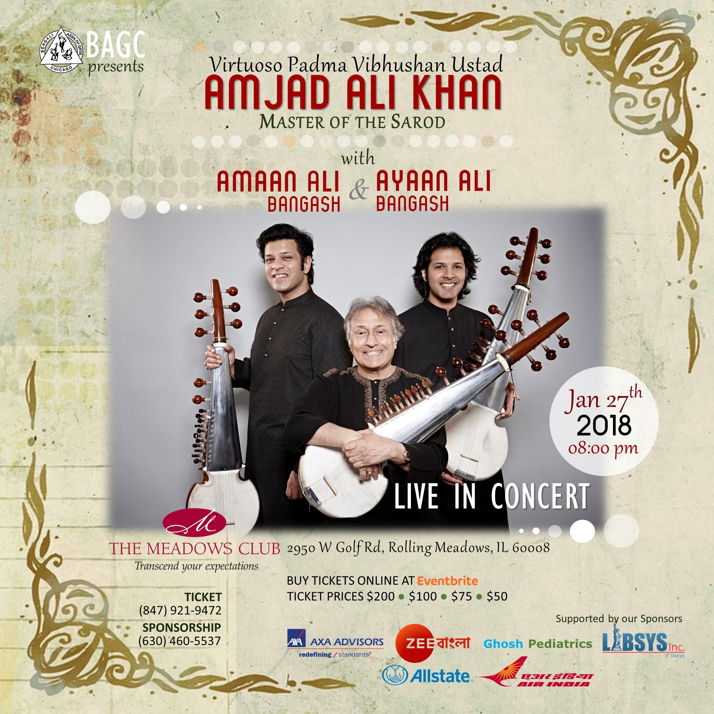 Ustad Amjad Ali Khan Live in Concert