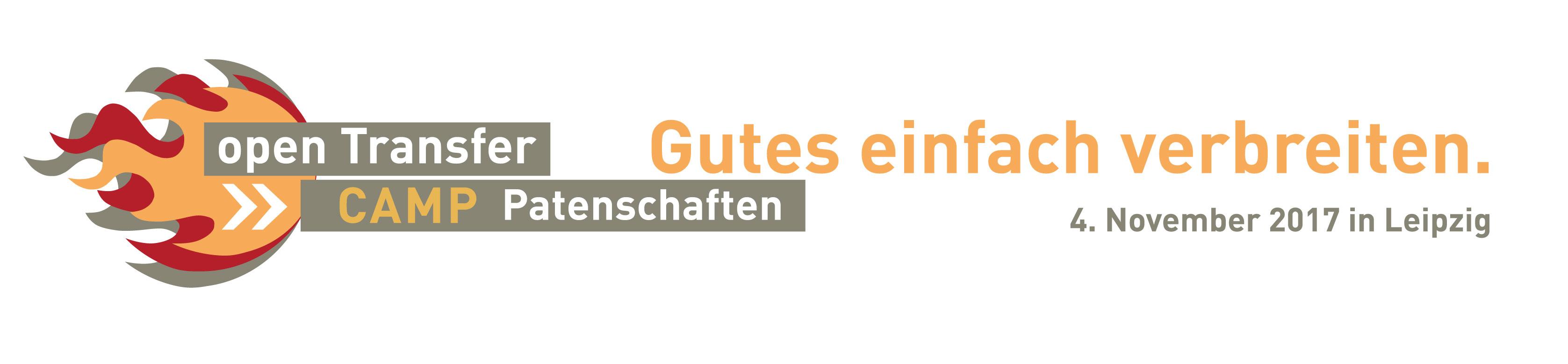 Logo des openTransfer CAMP #Patenschaften in Leipzig