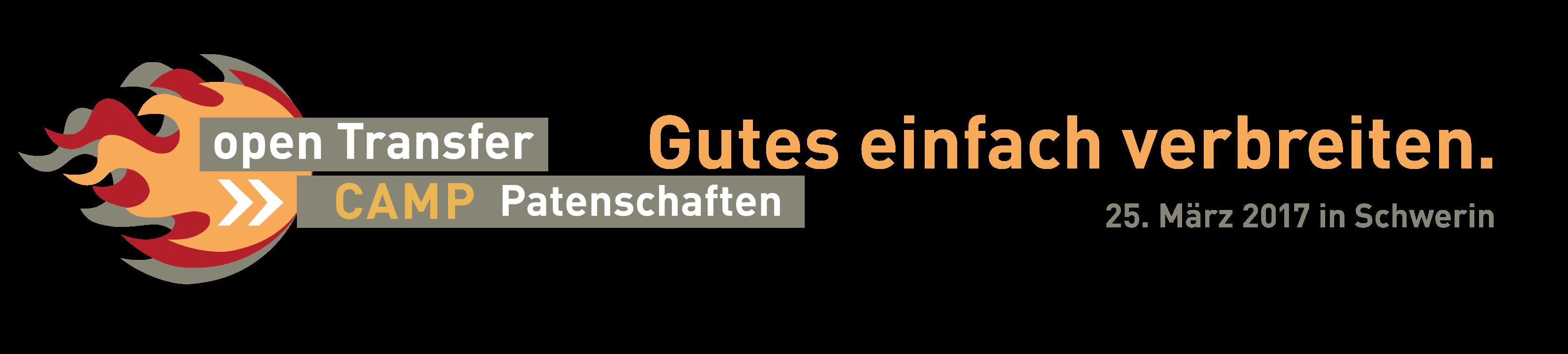 Logo des openTransfer CAMP Patenschaften am 25. März 2017 in Schwerin