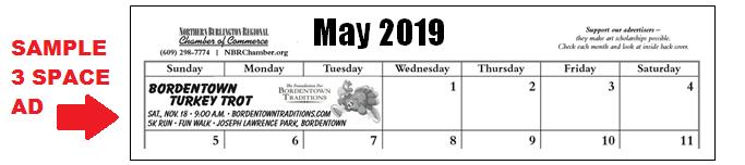 2019 calendar ad sample