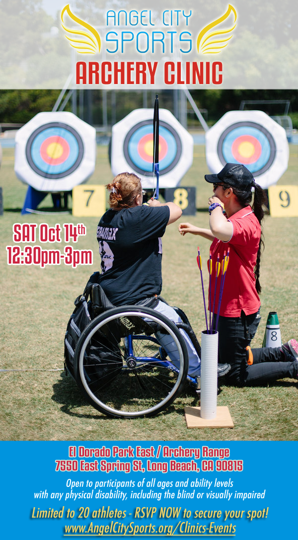 Adaptive Archery Clinic Saturday October 14 in Long Beach
