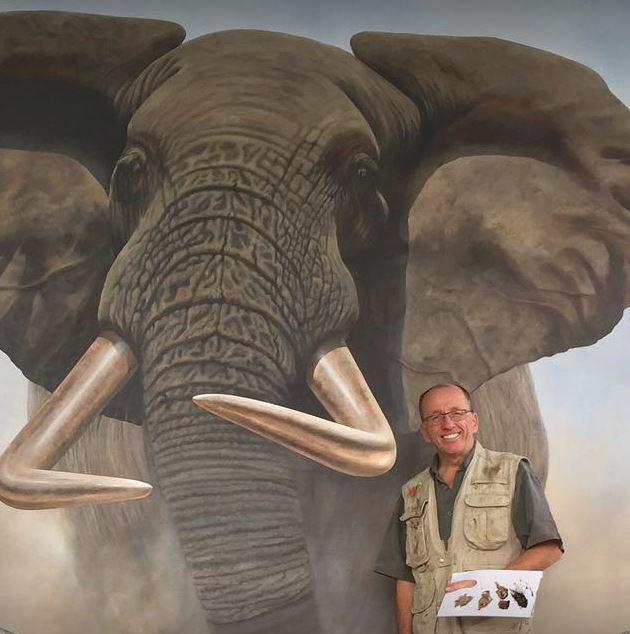 JT with elephant