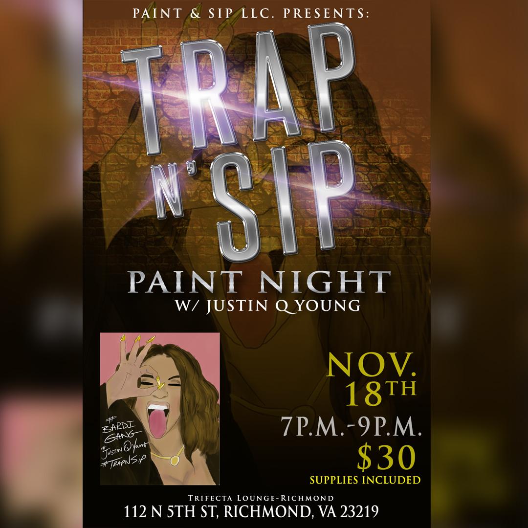 Trap N Sip Paint Night Cardi Tickets Sat Nov 18 2017