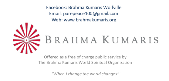 Brahma kumaris contact information and logo