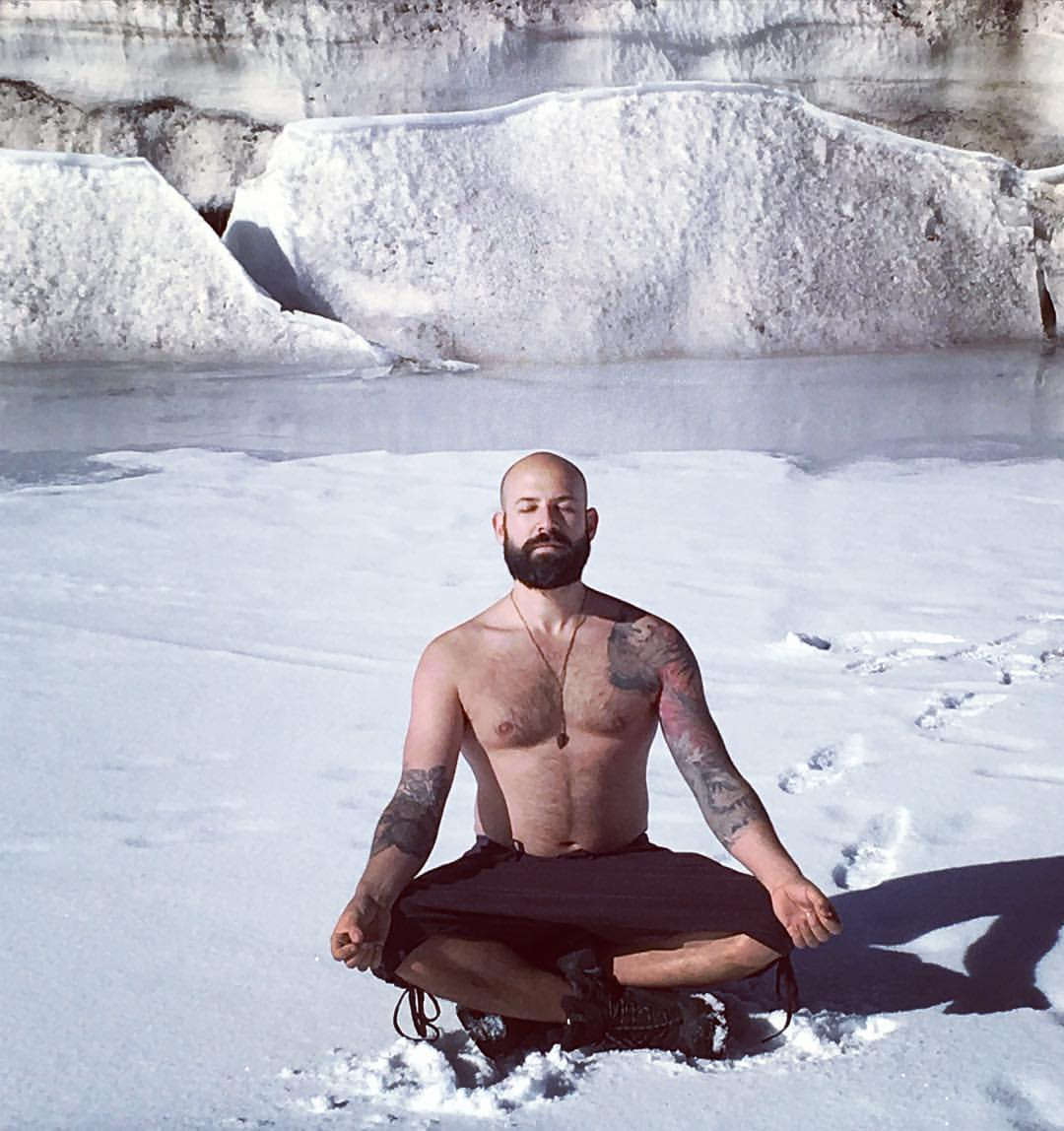 G meditating in Colorado during the Masterclass workshop with WIM