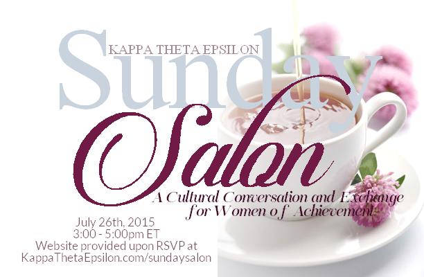 Kappa Theta Epsilon Sorority, Inc. Sunday Salon Networking Event