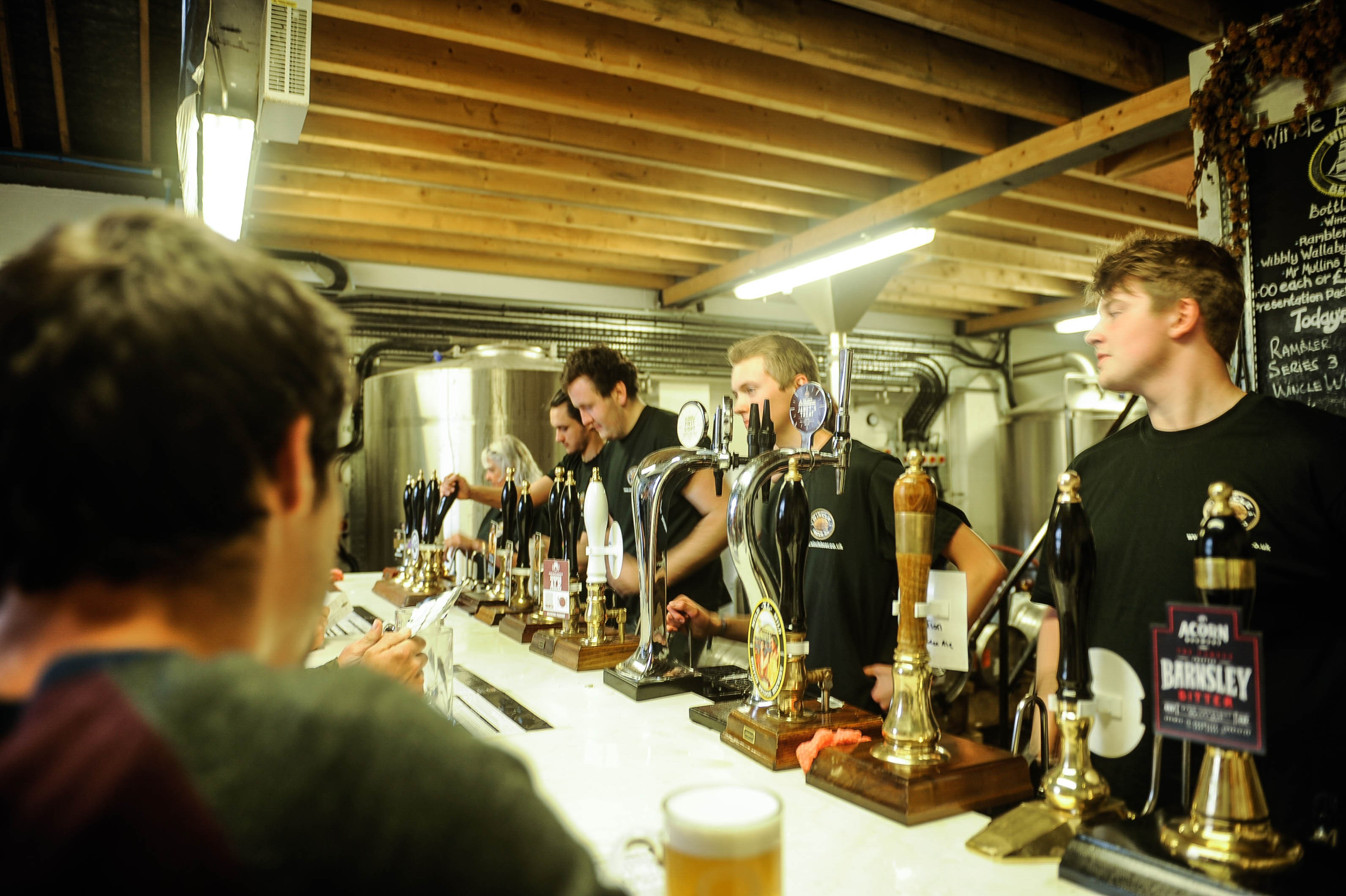 Festival bar in the brewery