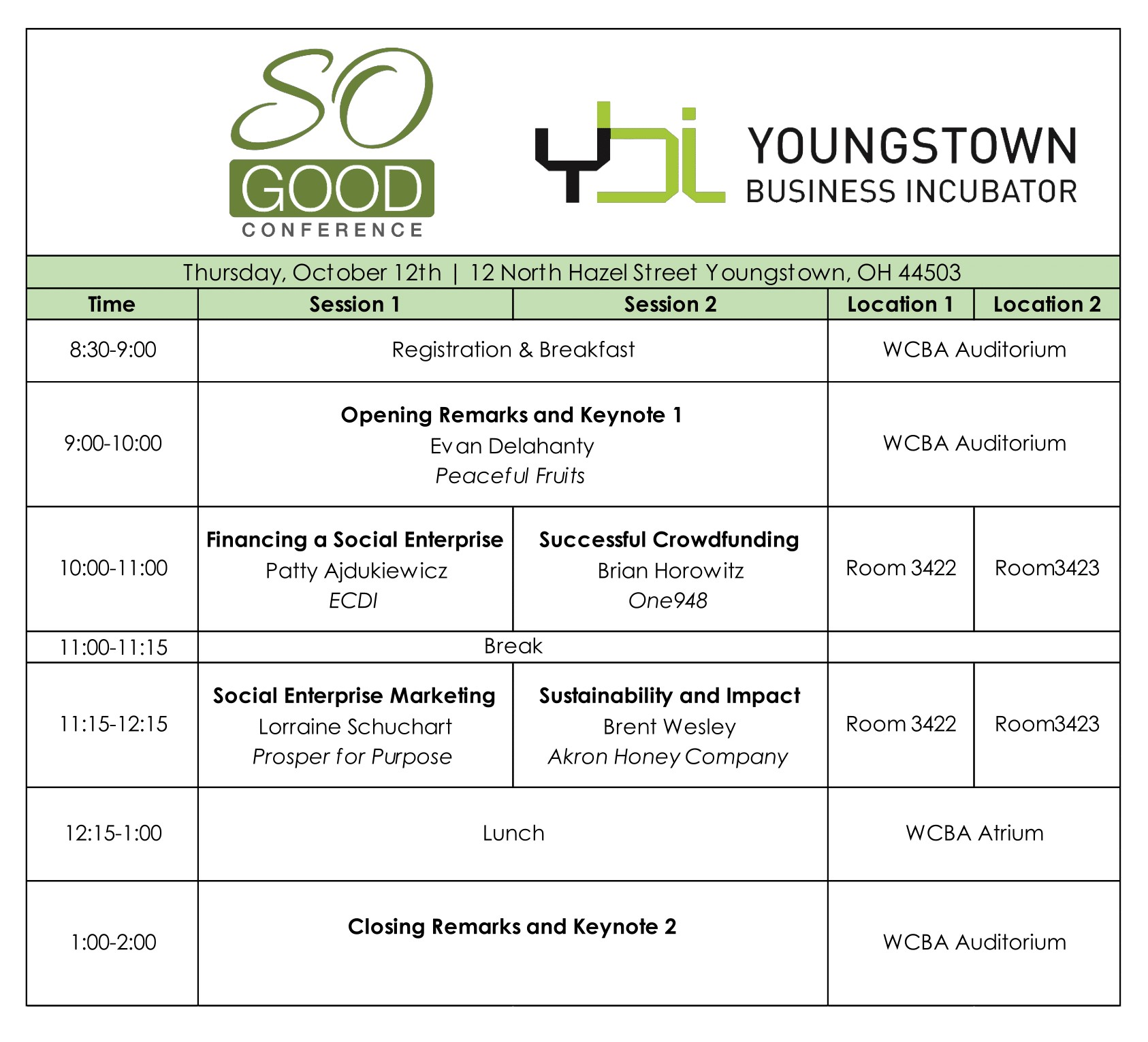 So Good Schedule
