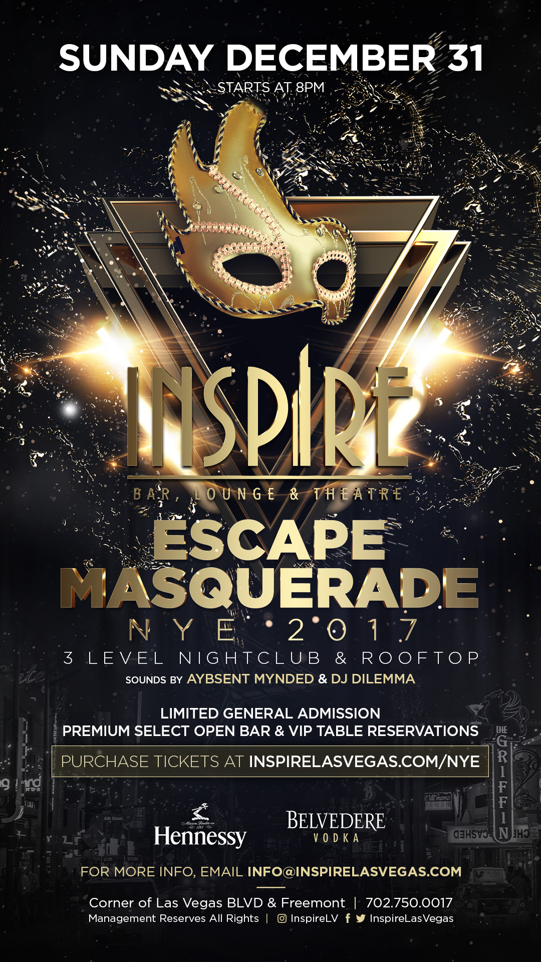 New Year 39 S Eve 2018 Inspire Tickets Sun Dec 31 2017 At 8 00 Pm Eventbrite