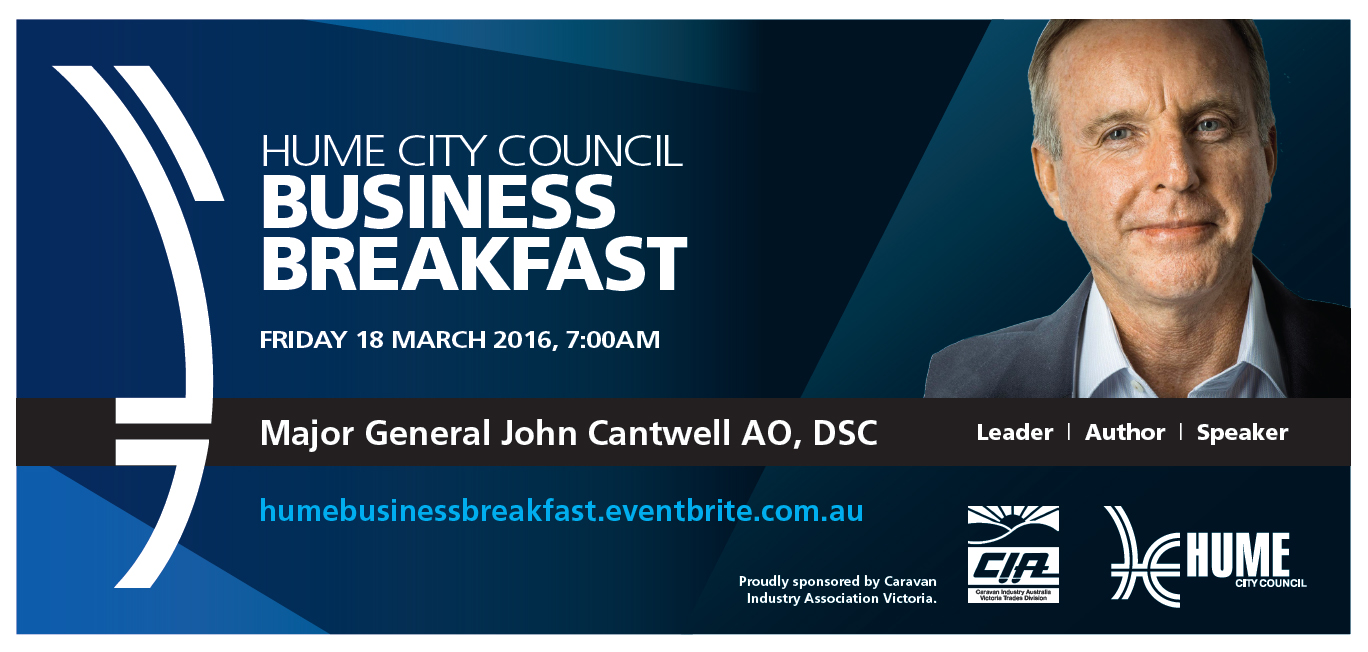 Hume Business Breakfast March 2016 Flyer