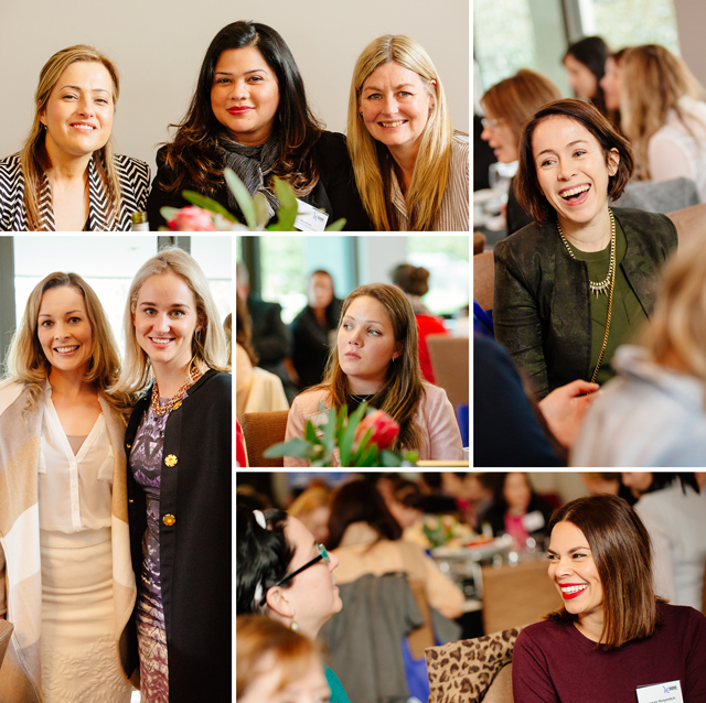 various images of women attending the women in front networking event