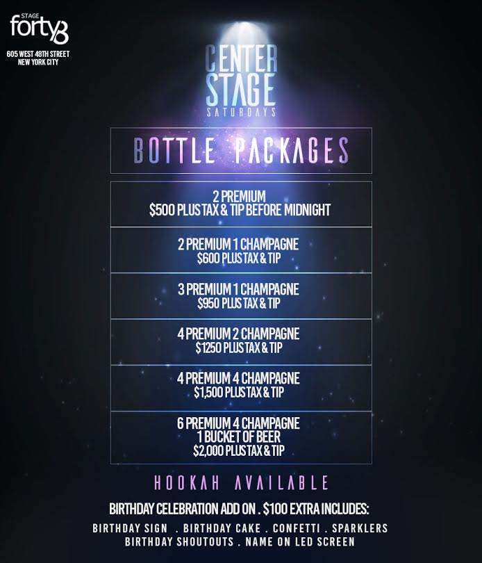 Stage 48 Bottle Prices