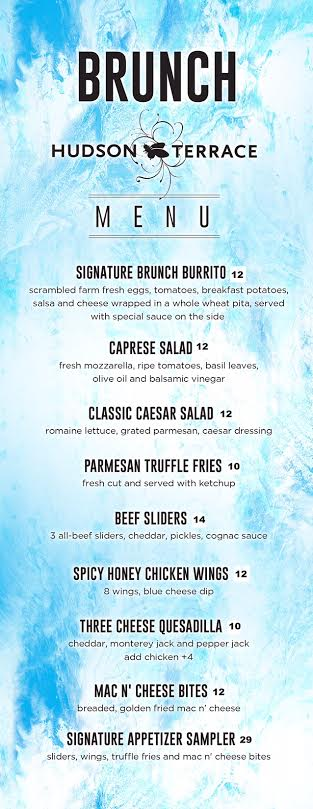 Hudson Brunch Menu