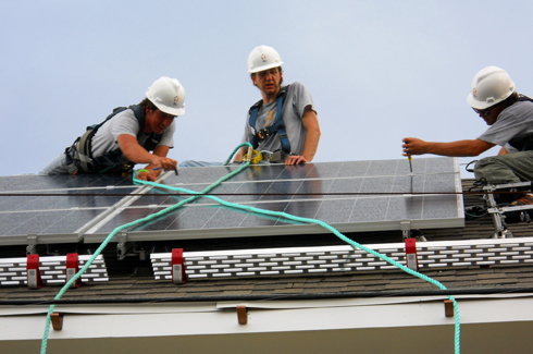 Texas Solar Outfitters roof install
