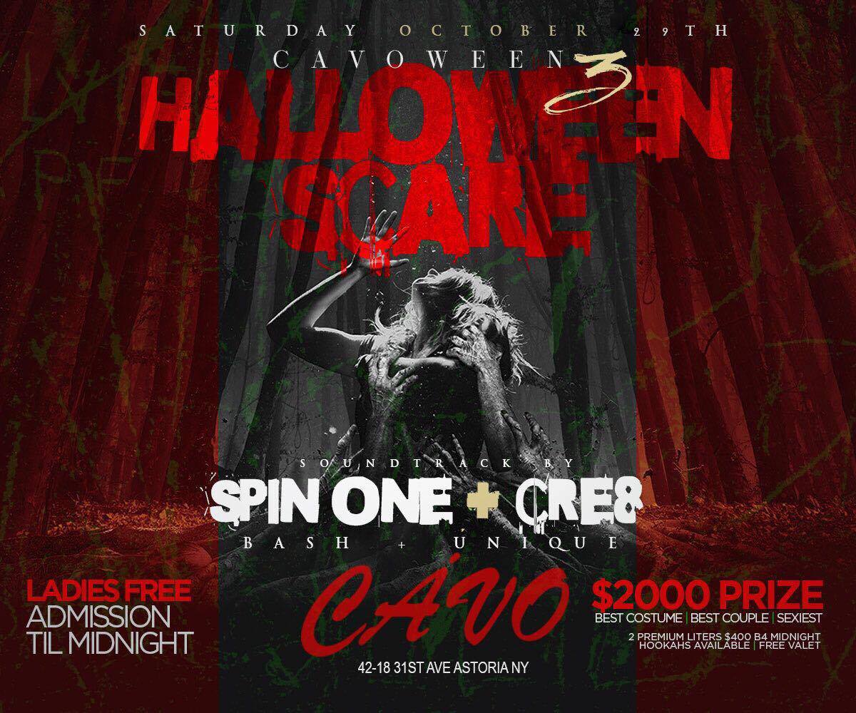 Halloween Scare at Cavo Astoria Tickets, Sat, Oct 29, 2016 at 10 ...