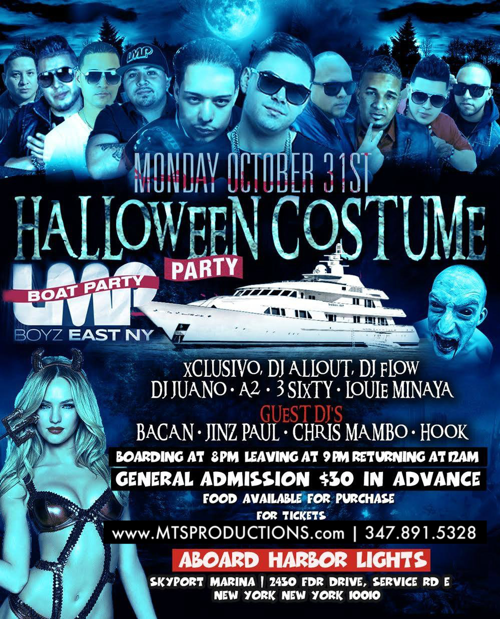 Halloween Boat Party at Harbor Lights Tickets, Mon, Oct 31, 2016 ...