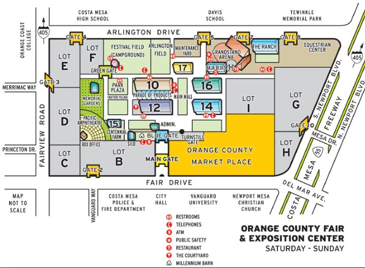 OC Fairgrounds Map