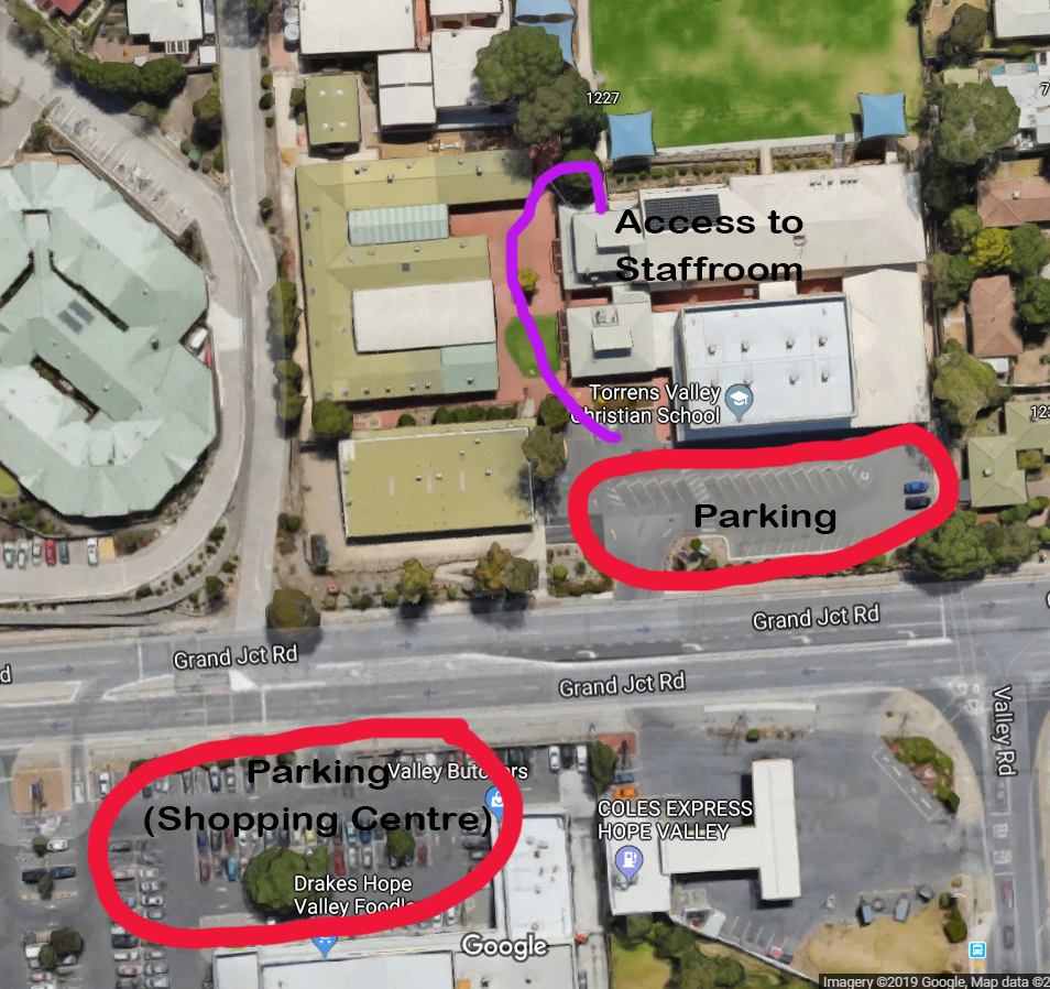 Map of Parking and Room