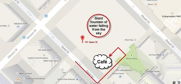 Salesforce Cafe map