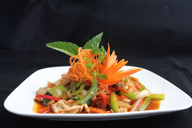 Ban Chok Dee Thai Basil Stir Fry (Pad Kra-Pow)