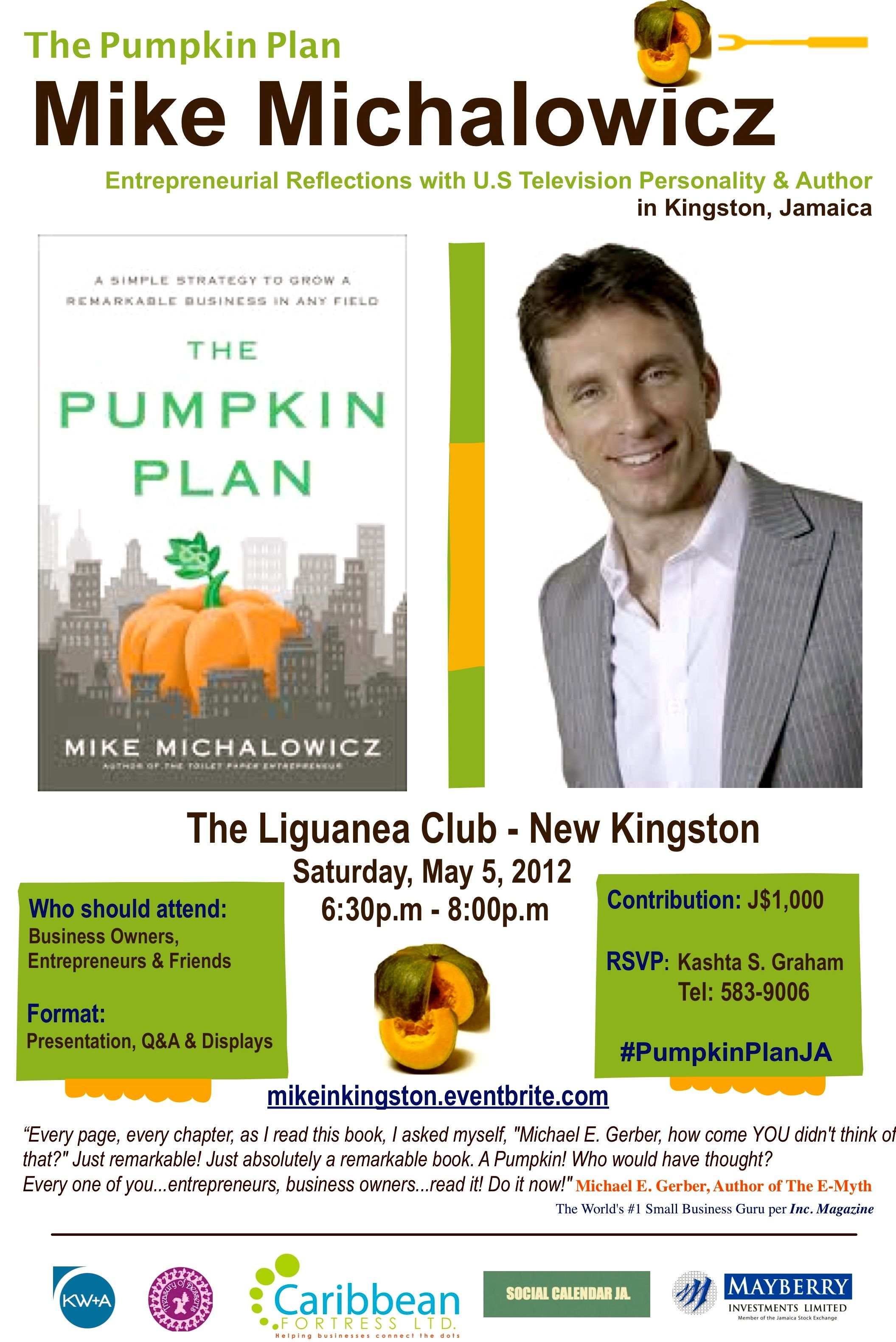 U.S Television Personality and Author - Mike Michalowicz in Kingston, Jamaica