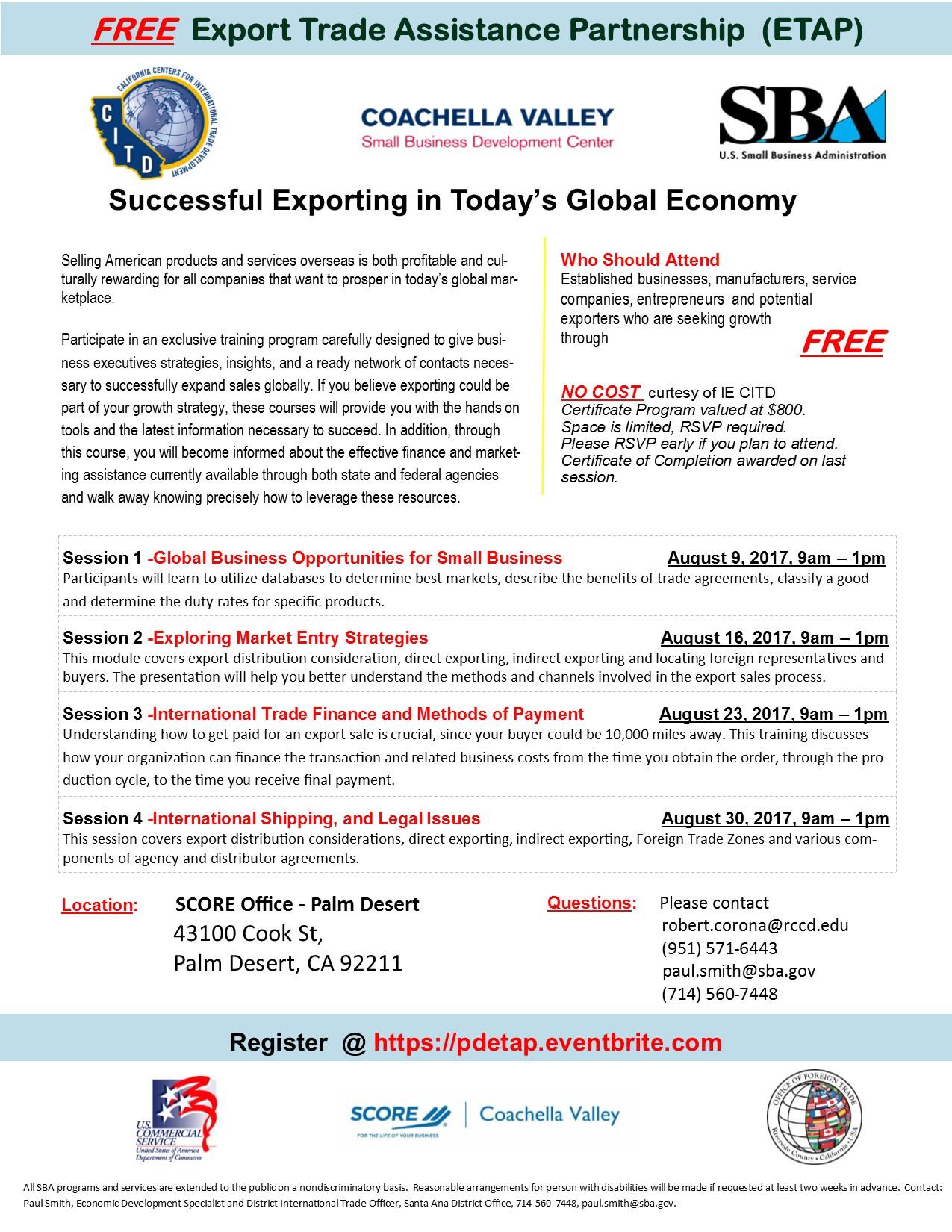 Export trade assistance partnership etap program coachella export coachella valley xflitez Images