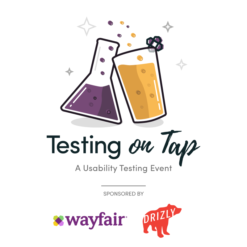 Event logo - science beaker and pint glass