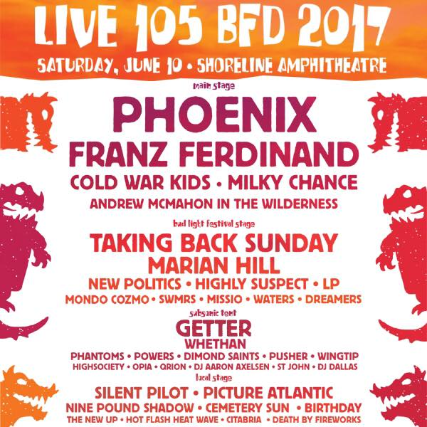 BFD 2017 Set Times and Lineup