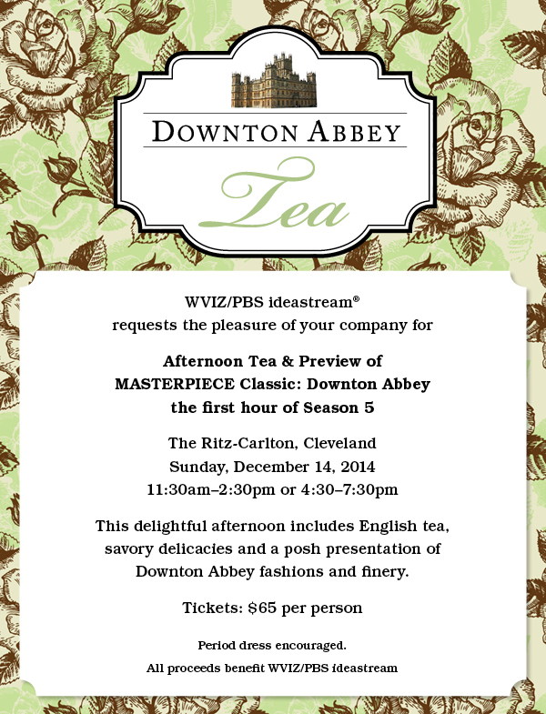 Downton abbey tea and exclusive free preview tickets for Downton abbey tour tickets