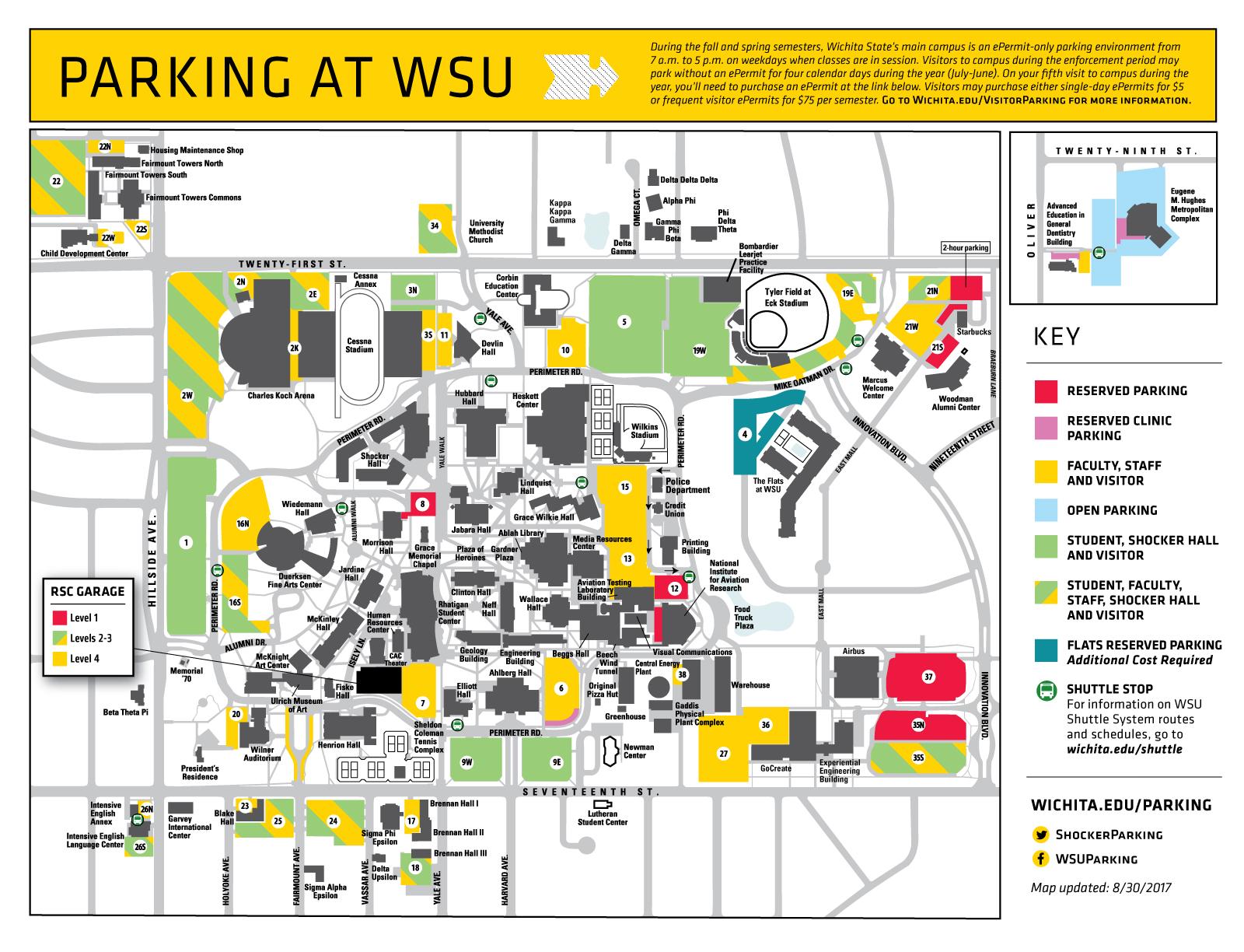 WSU Parking Map