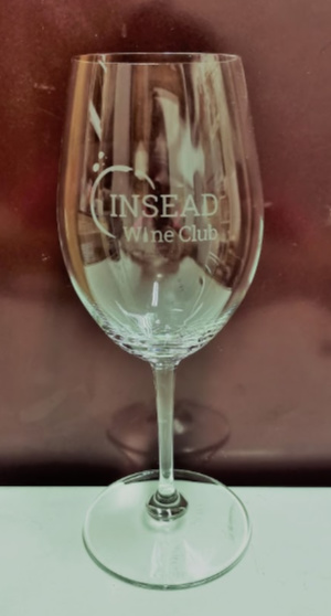 INSEAD Wine Club glass