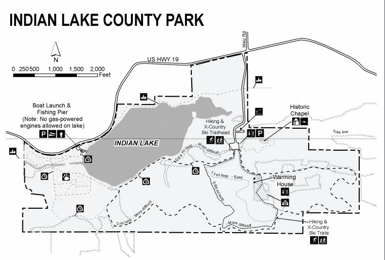 Map of Indian Lake County Park