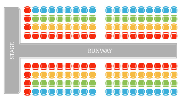 Color-Coded Seating Chart - Compassion Through Fashion