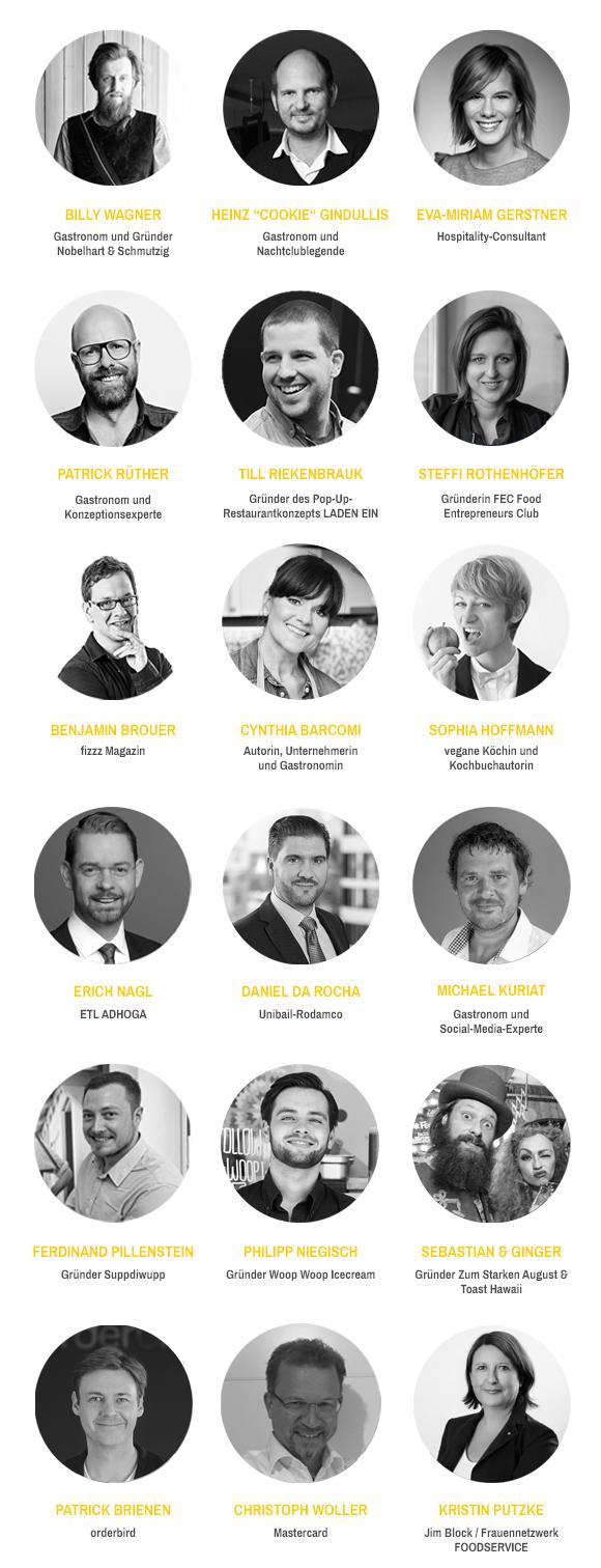 Die Speaker des Gastro-Gründertags 2017