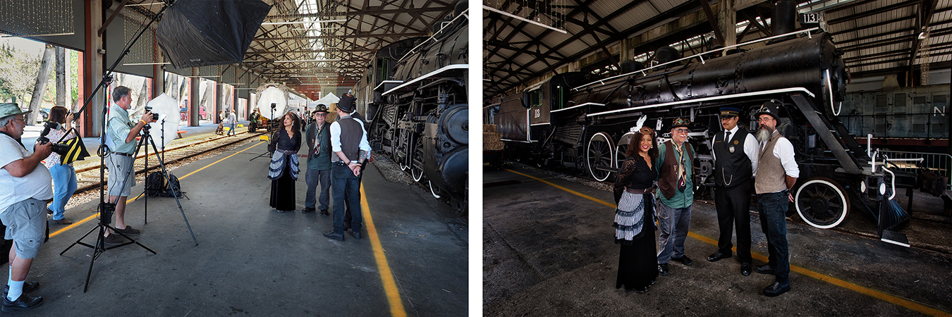 Photography workshop at last year's steampunk event at the Gold Coast Railroad Museum