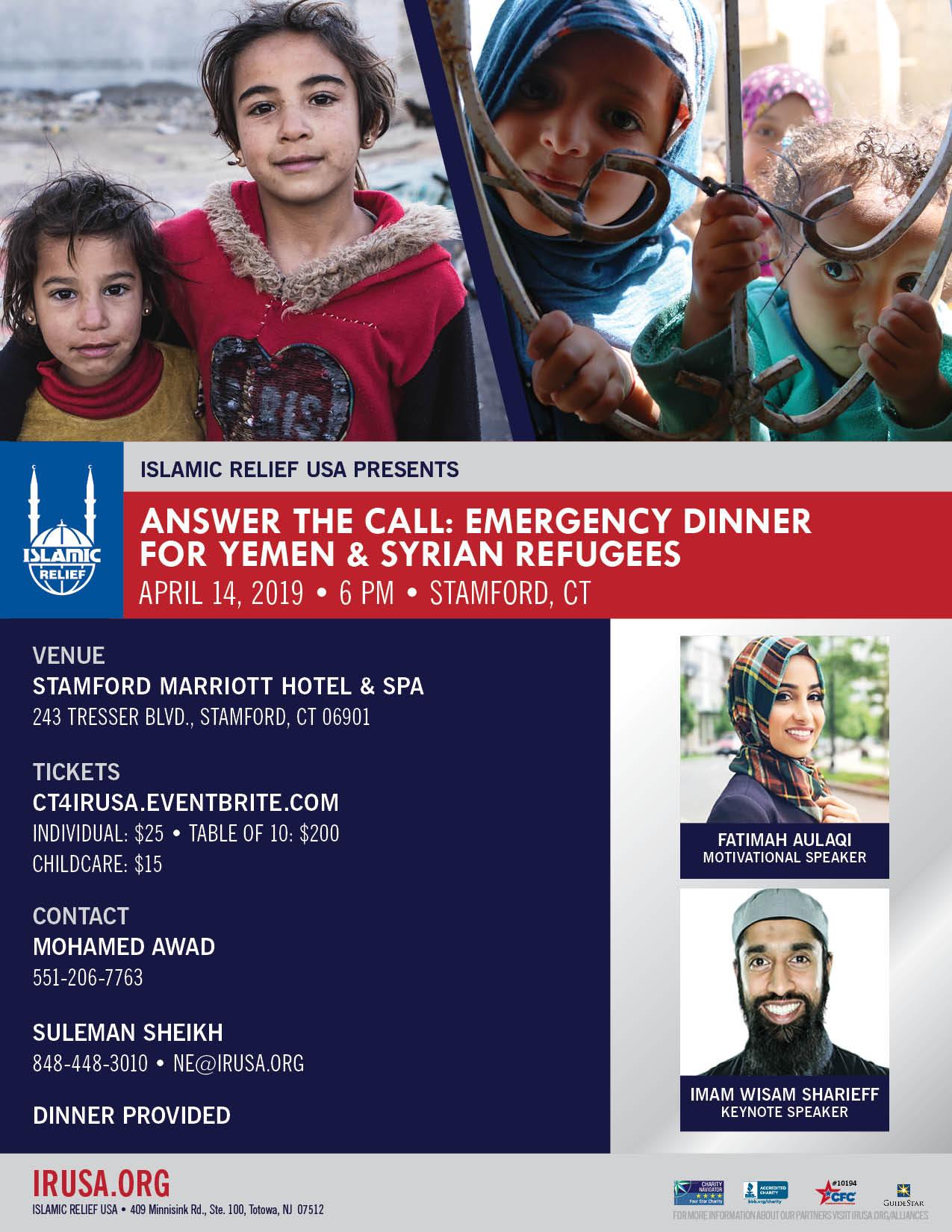 Answer the Call: Emergency Dinner For Yemen & Syrian