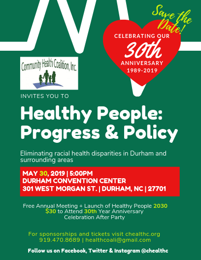 Community Health Coalition, Inc. 30th Anniversary Celebration After Party