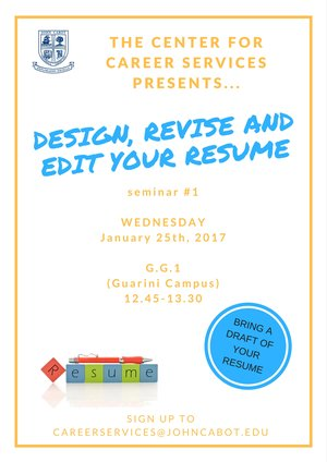 Design Revise and Edit your Resume