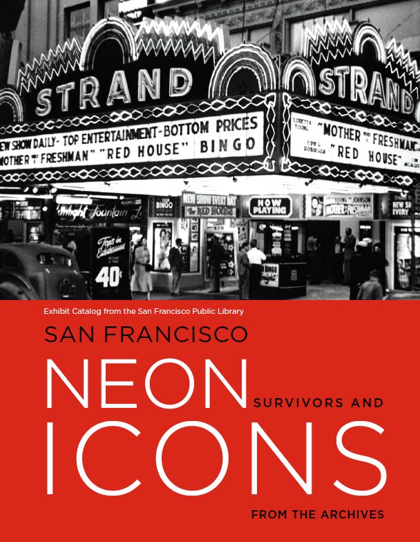 40-page catalog of Neon Icons photo exhibit at the SFPL